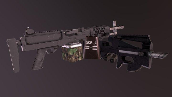 SCP Secret Lab : Weapon Overhaul 3D Model