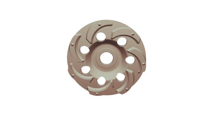 Алмазная шлифовальная чашка Ниборит Бобр 125 3D Model