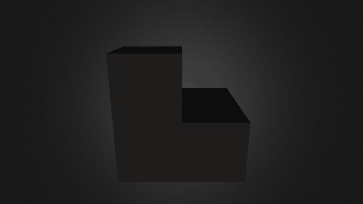 Black Puzzle Part 3D Model