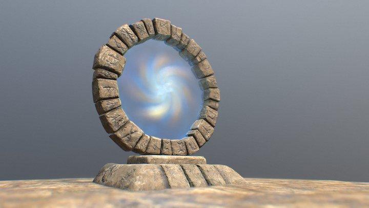 Stone Portal 3D Model