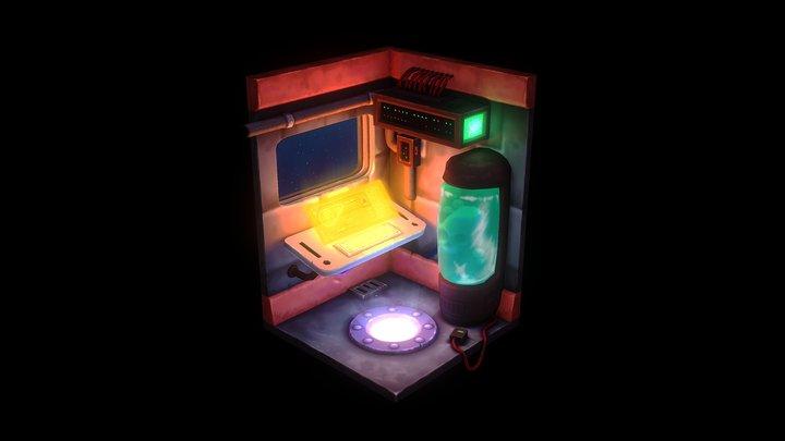 Spaceship Room 3D Model
