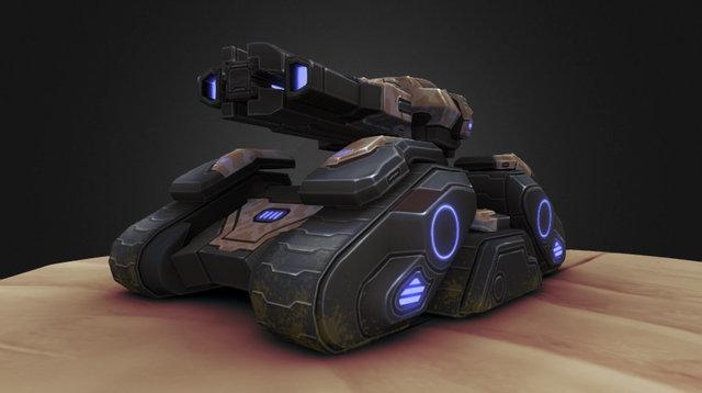 Siege Tank 3D Model