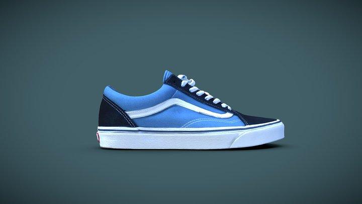Unused Blue Vans Shoe 3D Model