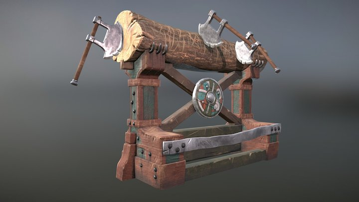 How To Train Your Dragon 2 - Axe Throwing Target 3D Model