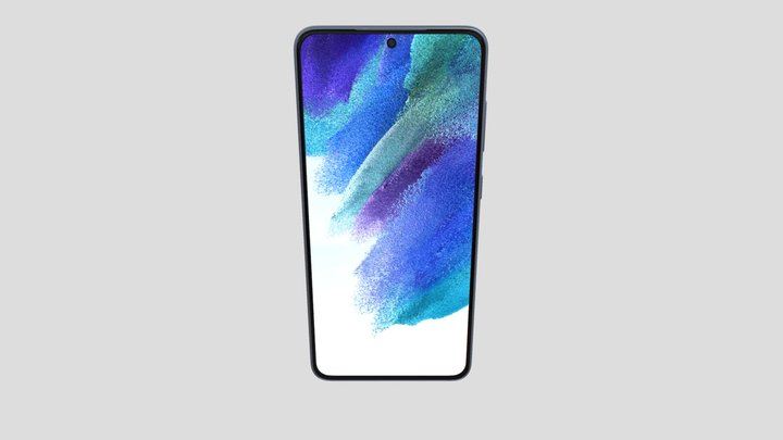 Samsung Galaxy S21 FE in Blue 3D Model