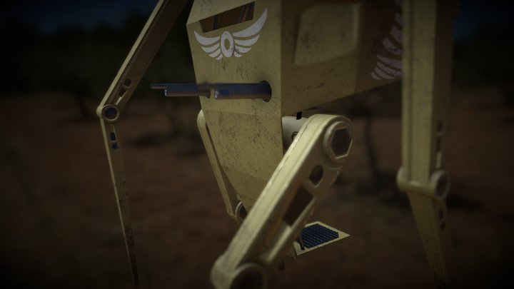 Individual Guarding Angel 3D Model