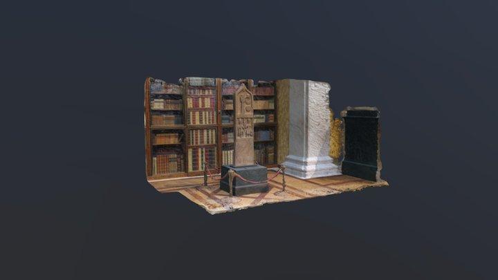 Sandstone stele in British Museum + SECRET DOOR 3D Model