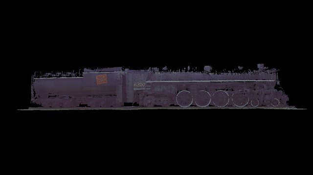 Ottawa Steam Locomotive CN 6200 & Tender; 10mm 3D Model
