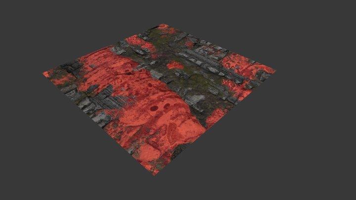 Alien Planet Surface - Material 3D Model