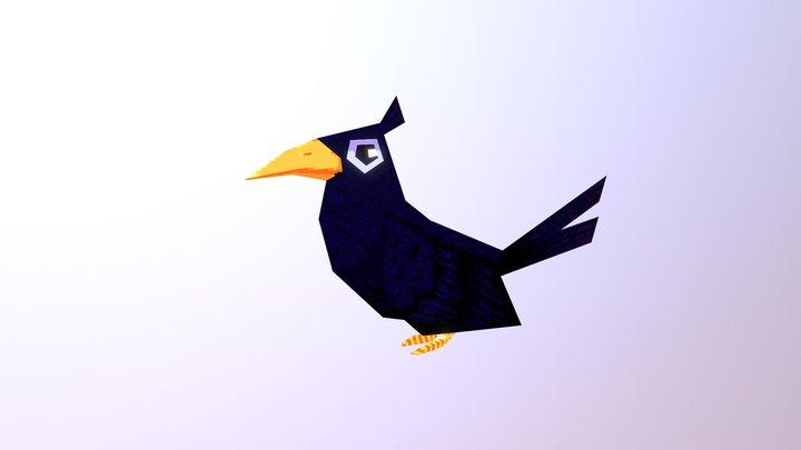 Pixel bird 3D Model