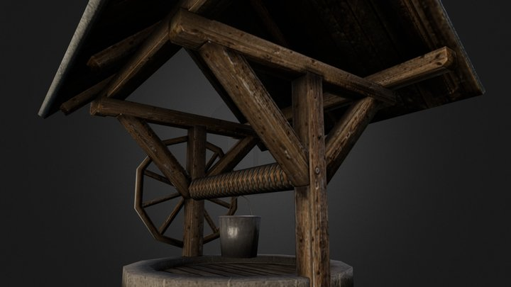 Traditional water well 3D Model