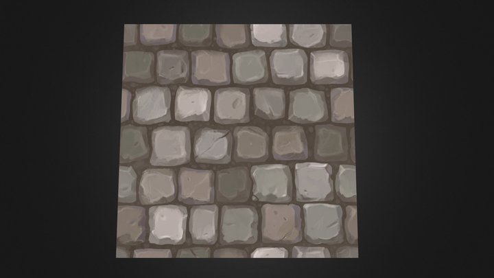 Handpainted casual paving 3D Model