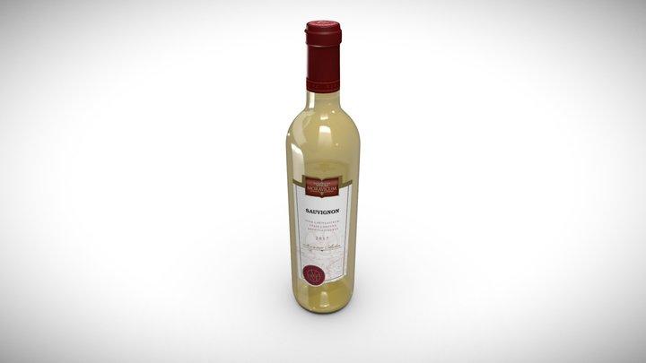Bottle of Wine Sauvignon 2017 3D Model