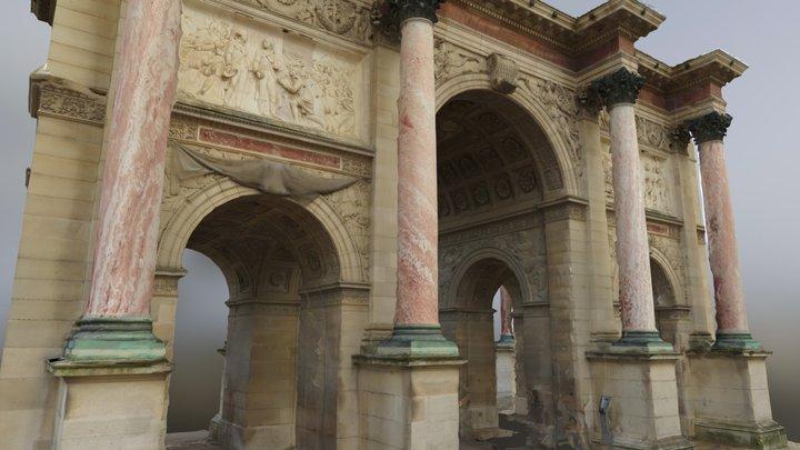 Paris Arc De Triomphe du Carrousel 3D Model