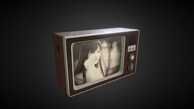 Vintage Television 3D Model