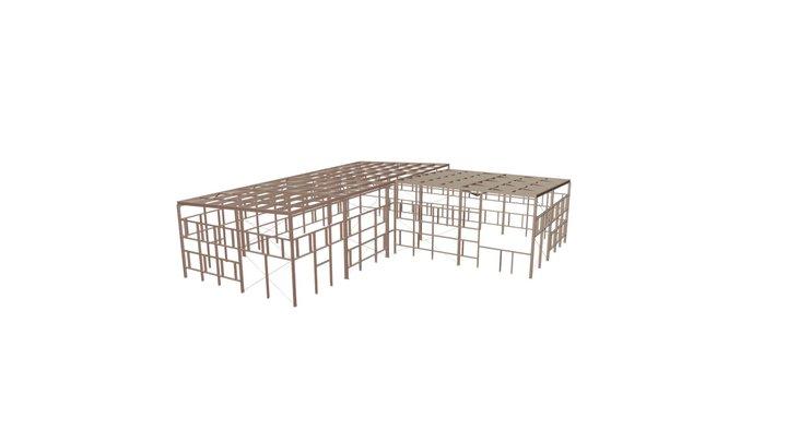 00905 АБК Administrative building 3D Model