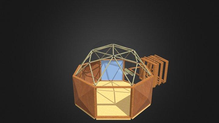 1V/L1 5/8 Rhombicuboctahedron Dome cabane 3D Model