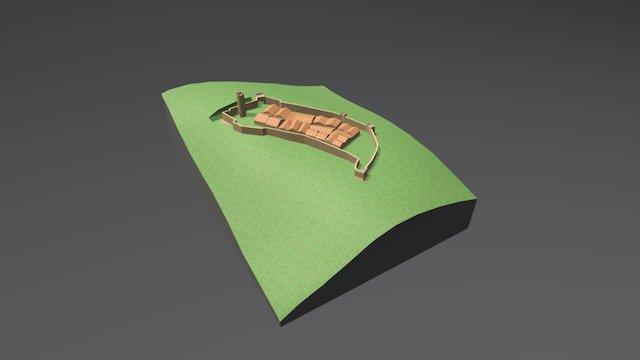 Castello di Goriano Valli 3D Model