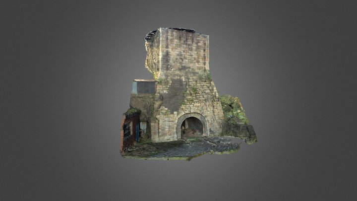 'Old Number One' Furnace - Brymbo Iron Works 3D Model