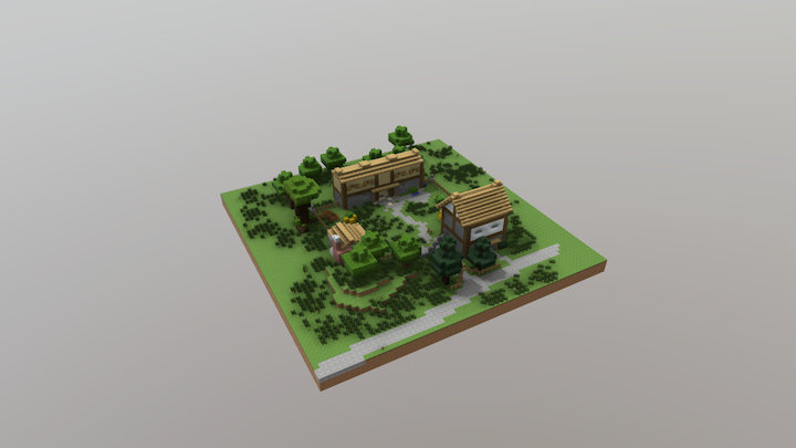 Stable Yard 3D Model