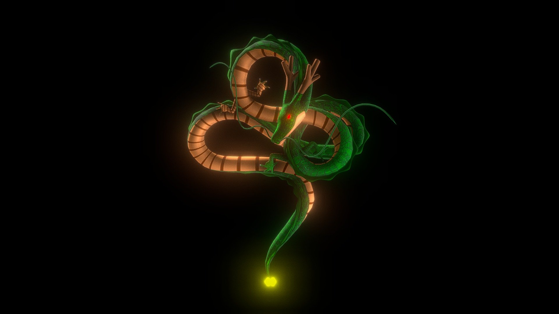 Shenron Dragon Ball Download Free 3d Model By Anthony Yanez