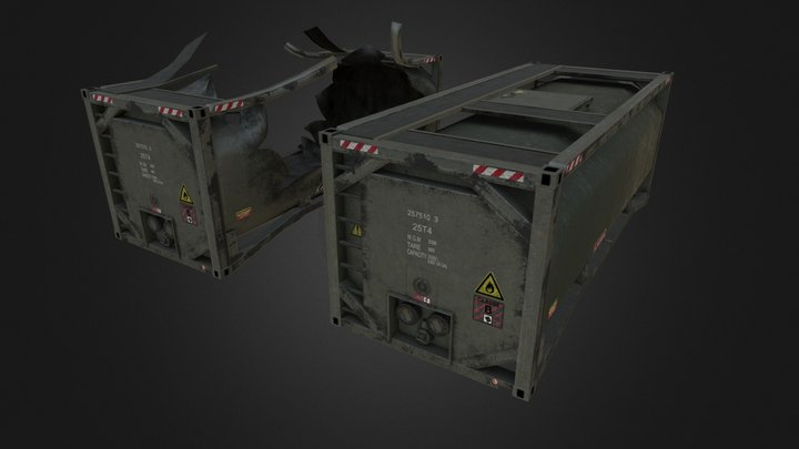 Fuel Storage Tank Container 3D Model