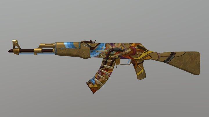 AK47 Bullet trip 3D Model