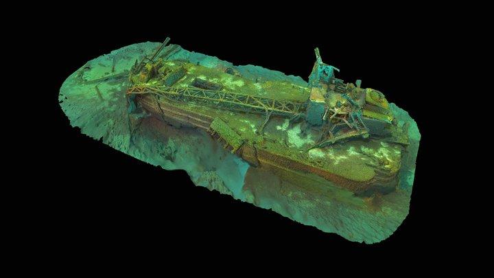 Industry Barge 3D Model