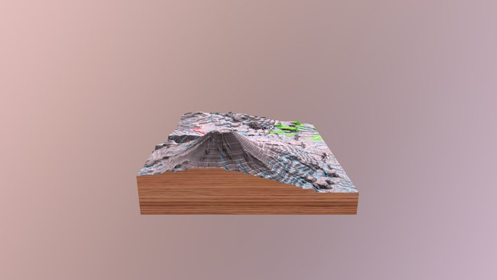 Popocatépetl volcano glb file 3D Model