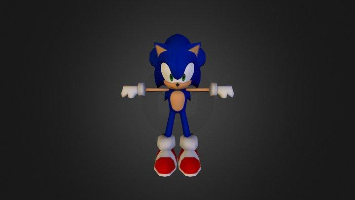 3DS - Sonic Lost World - Sonic 3D Model