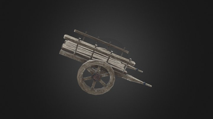 Old Carriage 3D Model