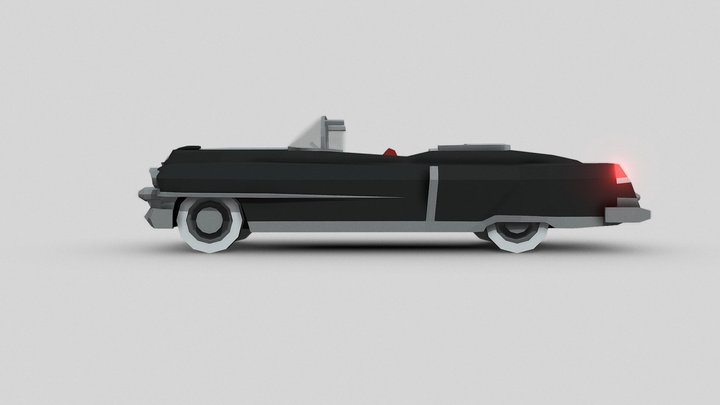 1953 Cadillac Eldorado Convertible 3D Model