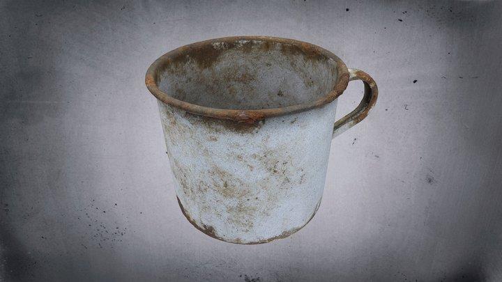 Vězeňský Plechový hrnek / Prison Tin mug 3D Model