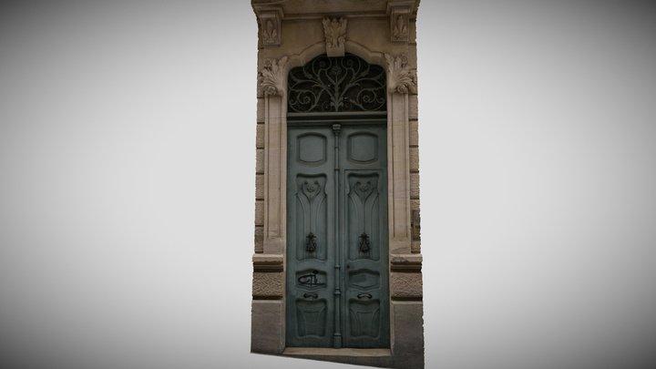 Antique Art Nouveau Door - Casa d'Escaló 3D Model
