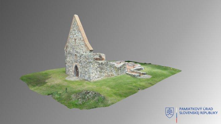 Veľká Čalomija - Ruina kostola 3D Model