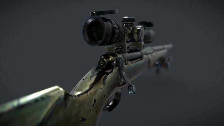 M 24 |BOLT ACTION SNIPER RIFLE| 3D Model
