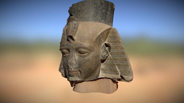 Statue, tête de Ramsès II Louxor Karnak Egypte 3D Model