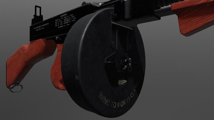 Tommygun 3D Model