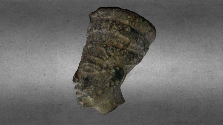 Egyptian Figurine Head 3D Model