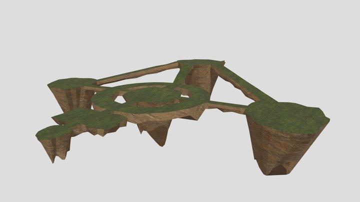 Floating Ruins 3D Model