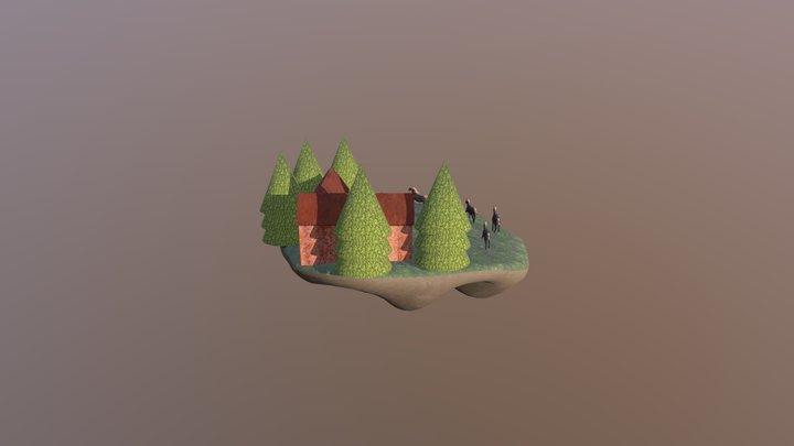 Floating Stable Island Version 4 3D Model