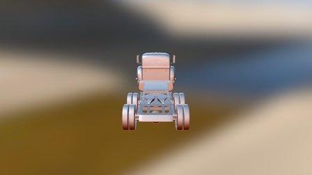 White Truck 3D Model