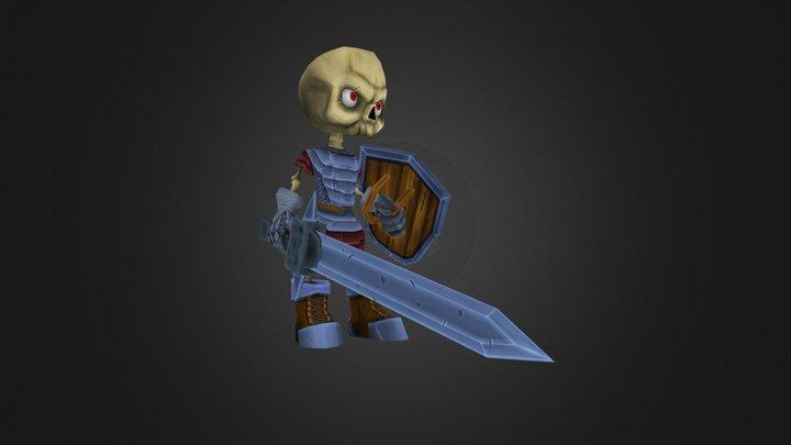 Skeleton Knight 3D Model