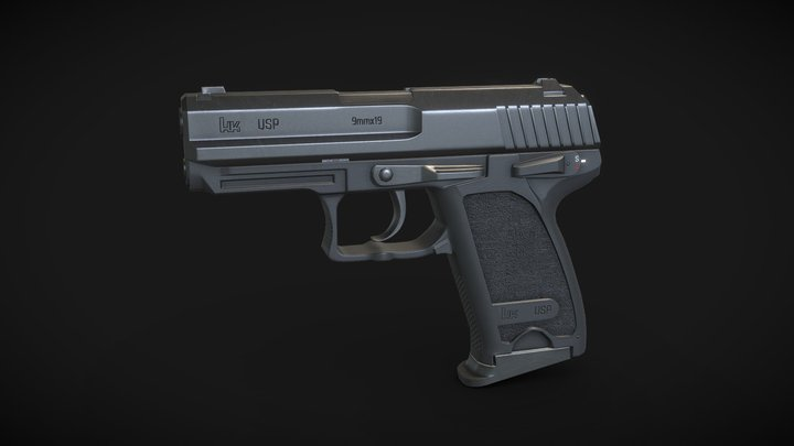 Heckler & Koch USP Pistol 3D Model