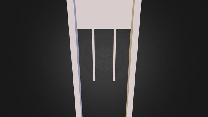 Hall Table (No Textures) 3D Model