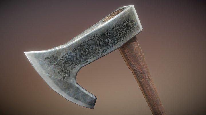 Battle Axe viking 3D Model