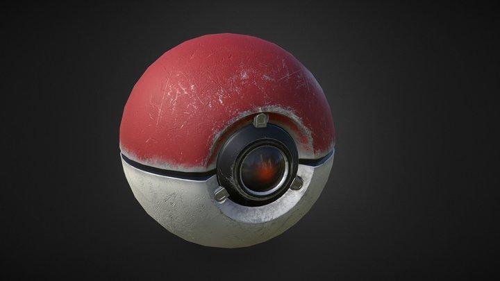 PBR Pokeball 3D Model