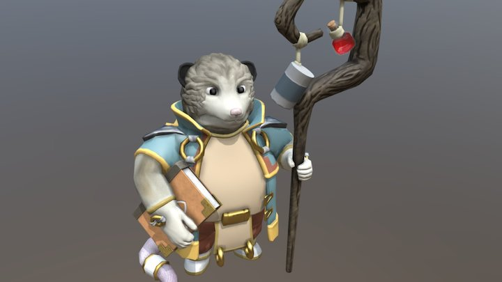 Georgie The Alchemist Possum 3D Model