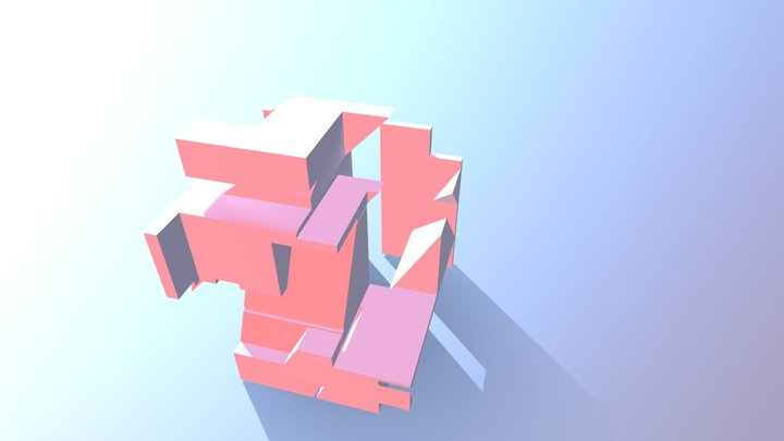 Part b - Solid and Void 3D Model