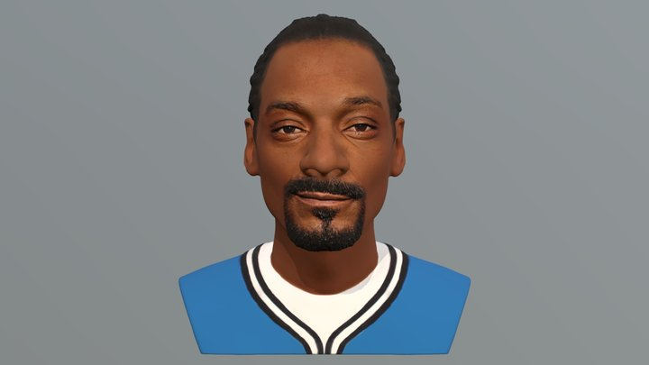 Snoop Dogg bust for full color 3D printing 3D Model